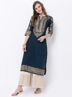 Kurta Kurti Indian Cotton Women Tunic Designer Pakistani Top Dress Shirt Kameez
