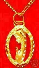 LOOK Gold Plated Virgin Mary Prayer Pendant charm Jewelry