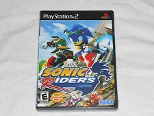 NEW Sonic Riders Playstation 2 Game PS2 w/ EXCLUSIVE SONIC X DVD Black Label US