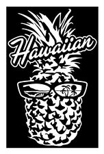 Hawaii pineapple bumper sticker decal hibiscus auto