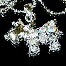 w Swarovski Crystal ~Scottie WESTIE SCOTTISH DOG~ Puppy Animal Pendant Necklace