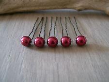 Lot 5 Accessoires cheveux Epingle pic p robe  Mariage/Mariée/Soirée Bordeaux