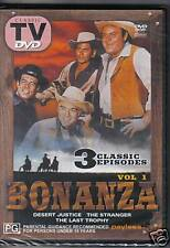 BONANZA VOL 1 - DVD - 3 CLASSIC EPISODES - NEW -