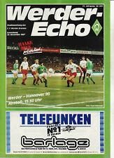 BL 87/88 SV Werder Bremen - Hannover 96