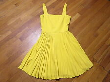 Versace Versus Yellow Pleated Panel Bodice Tea Dress Sz 6 NWT 50's retail $1350