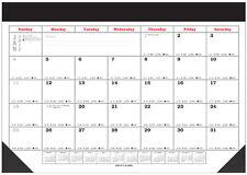 2017 Large Desk Pad Scheduling Calendar,deluxe holder,desk blotter,monthly(A149)