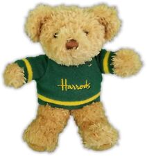 "8"" Harrods Bear Hunter Dark Green Sweater Plush 32-21"
