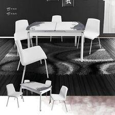 ausziehbare ovale esstische k chentische ebay. Black Bedroom Furniture Sets. Home Design Ideas