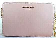 Michael Kors Jet Set Large East West Saffiano Leather Crossbody Bag Pastel Pink
