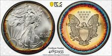 1995 American Silver Eagle $1 PCGS MS68!~High Grade!~KILLER Rainbow!!~