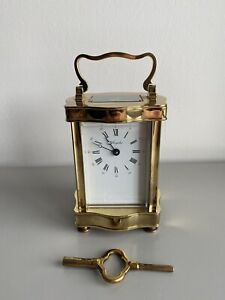 Vintage French Angelus Brass Carriage Clock For Repair (mainspring)