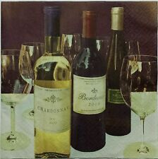 WINE TABLE 2 single LUNCH SIZE  paper napkins for decoupage 3-ply