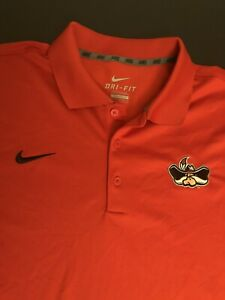 """Nike Dri-Fit UNLV Rebels""""Banned Logo"""" Polo Shirt men Large red New Embroidery"""