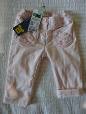 NEW BABY GIRLS BENETTON PINK FINE CORD TEDDY POCKET TROUSERS AGE 1-3 MTHS  56CM