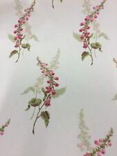 Sanderson Foxgloves Fabric By The Metre In Buttermilk/Raspberry