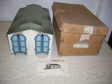 MÄRKLIN H0 00 Lokschuppen 7029 / 412 Blech, Box & Anleitung, sehr gut erhalten