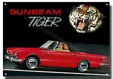 SUNBEAM TIGER CAR ADVERTISEMENT A4 METAL SIGN