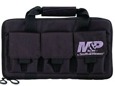 New! Smith and Wesson M&P Case Double Pistol Handgun Range Bag Ammo BLACK