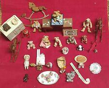 Vintage huge Lot Dollhouse Miniatures Bonnie Originals Bears & More