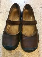Keen Women's Brown Leather Stretch On/ Slip On Mary Jane Shoes Size: 7 US