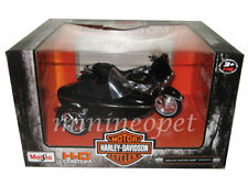 MAISTO 76400 HARLEY DAVIDSON 1998 FLHT ELECTRA GLIDE with SIDE CAR 1/18 BLACK