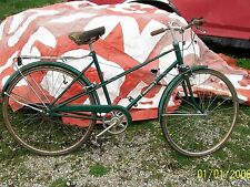 Vintage Huffy Women Green Seapointe Bike with Rack on Back and Reflector