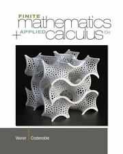 Finite Math and Applied Calculus by Stefan Waner and Steven Costenoble (2013,...