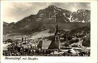 Teisendorf Bayern s/w AK 1957 Gesamtansicht mit Blick auf den Staufen Kirche