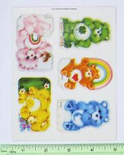 Vtg Rare PLUS MARK Care Bears Stickers Sticker Sheet Misprint Maverick Care Bear