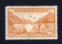 Newfoundland 1933 Sc #C17 75c bistre LABRADOR LAND OF GOLD Airmail VF Mint