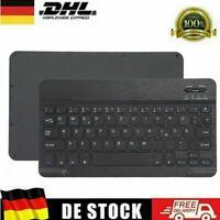 DE Wireless Bluetooth Keyboard Tastatur kabellos für Handy Tablet QWERTZ Layout