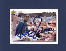 Marvin Freeman signed Atlanta Braves 1992 Upper Deck baseball card