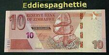 Zimbabwe 10 Dollars 2020 UNC P-NEW