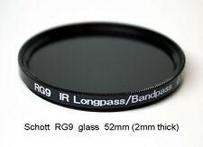 Schott RG9 52mm x 2mm thick 720nm Longpass Bandpass IR Infrared Filter