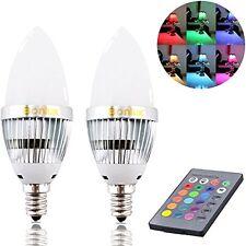 Bonlux 3W RGB E12 Candelabra LED Bulb 16 Colors 4 Modes Choice (2-Pack)
