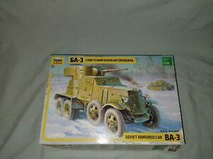 1:35 Soviet Russian Armoured Car BA-3 mod. 1943