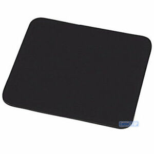BLACK Desktop PC Mouse Mat 6mm Plain Fabric Foam Backed