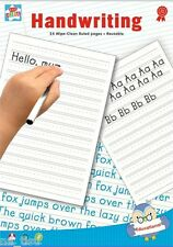 Handwriting BOOK A4 Paper 24pg Wipe Clean Ruled Reusable Writing Practise Pad