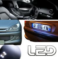 Peugeot 206 6 Ampoules LED Blanc éclairage Veilleuses plaque plafonnier Coffre
