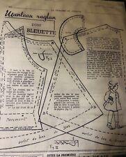 "Bleuette Pattern Kit, ""Manteau Raglan�, Raglan Sleeve Coat,Lsds-1942, W/Fabric"