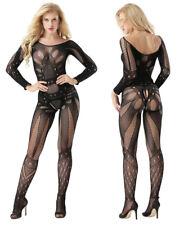 Sexy Women Lingerie Erotic Long Sleeve Hollow Costume Bodystockings Underwear