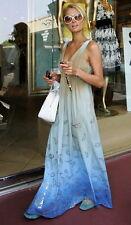 RARE! Gypsy 05 Organic Liza Ombre Dress Olive Blue XS S M Free People Style