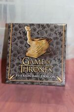 HBO Game of Thrones Resin baby Dragon Viserion by The Nobel Collection Mint NRFB
