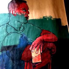 Art Aquarell St Julian Der Metz André Simon 1926-2014 1945 Künstler Lothringischer