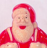 Santa Claus Candy Container Christmas Decoration Hard Plastic Retro Vintage PP