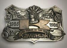 RARE VINTAGE Motorcycle, ATV, jet ski, 1986 Kawasaki anniversary USA Belt Buckle