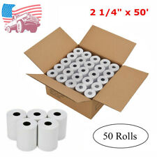 """50 Rolls 2 1/4"""" x 50' Cash Register Credit Card Thermal Papers POS Receipt Blank"""
