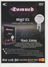 (-0-) Rare The Damned MGE25 Machine Gun Etiquette 25 Tour ADVERT LP CD MC  (-0-)