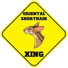 Aluminum Crossing Sign Oriental Shorthair Cat Xing Cross Diamond Street Signal