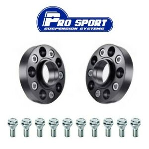 2x 30mm Black Alloy Hub Centric Wheel Spacers 5x130 71.6 for Porsche Cayenne